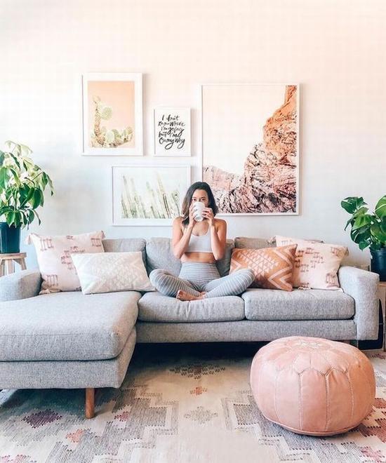 最常见的L型沙发 图片源自minted.com