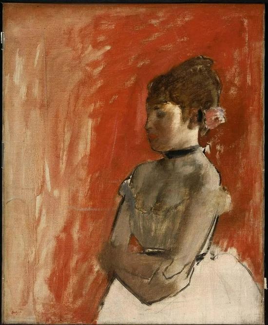 德加《双臂交叉的芭蕾舞者》Ballet Dancer with Arms Crossed, 约1872年