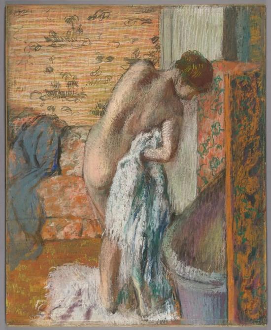 《出浴》,约1896年,埃德加·德加。The J。 Paul Getty Museum, 2017.75.1