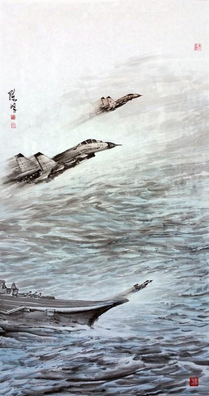 2021沧海颂中国海洋画作品展在山东荣成举行