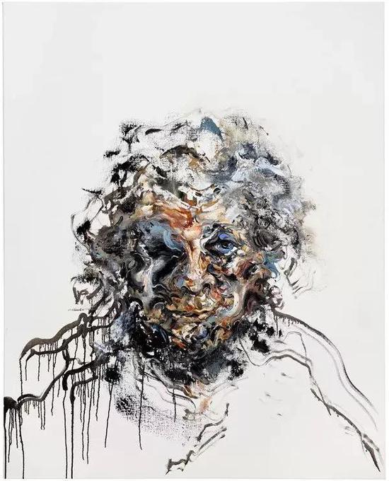 玛吉·汉布林自画像布面油画153x122cm 2017