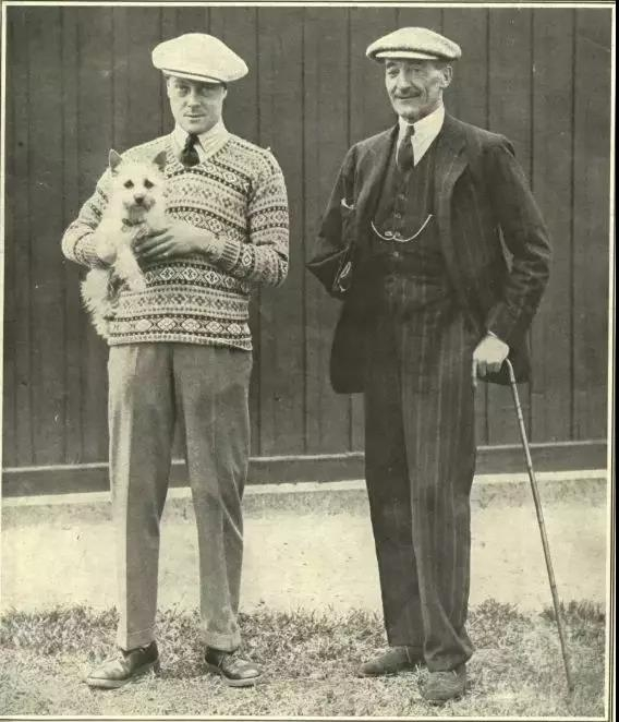 爱德华八世(左)
