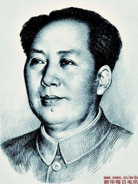人民币上的毛主席像是他创作的