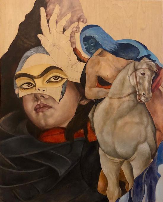 一位伊朗女性艺术家的参展作品