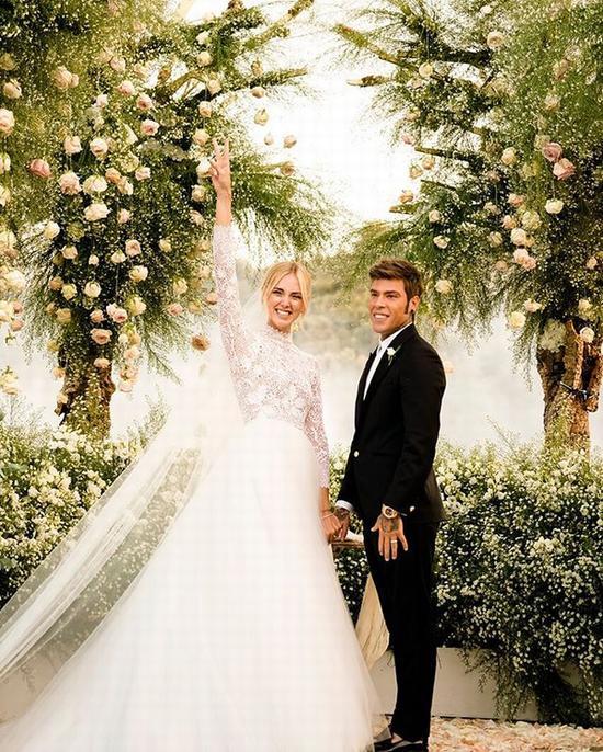 Chiara Ferragni与丈夫Fedez的盛大婚礼 图片源自instagram@chiaraferragni