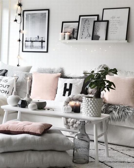 低饱和度的百搭粉色抱枕 图片源自instagram@mykindoflike