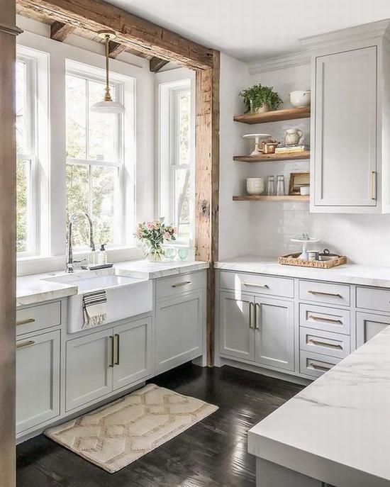 厨房布置收纳小巧思 图片源自www.schoolhouse.com