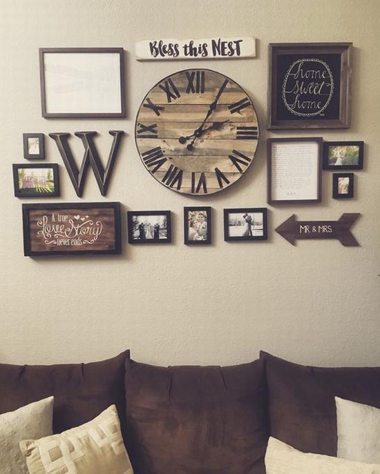 画框做装饰也不错 图片源自cutediyprojects.com