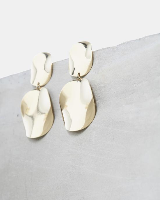 金色片状耳饰 Isabel Marant