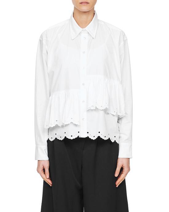 白色荷叶边装饰衬衫 McQ from I.T ¥3199