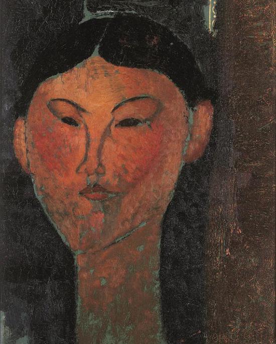 1915年莫迪利亚尼所绘的《比阿特丽斯·黑斯廷斯》