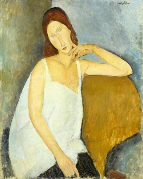 莫迪利亚尼,《珍妮·赫布特尼》,1919年