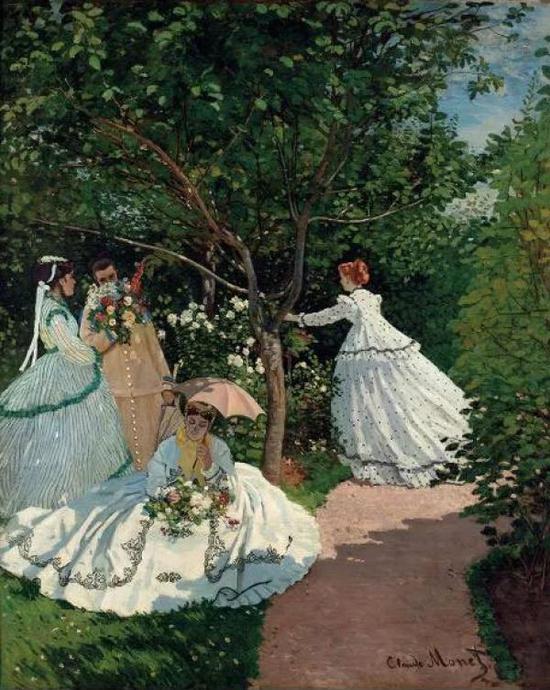 莫奈《花园中的女人》 1866