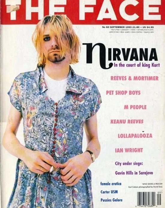 The Face 封面上的 Kurt Cobain