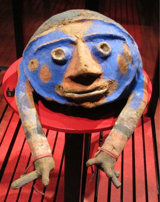 瓦努阿图的一个面具,来自Malekula岛的南部。