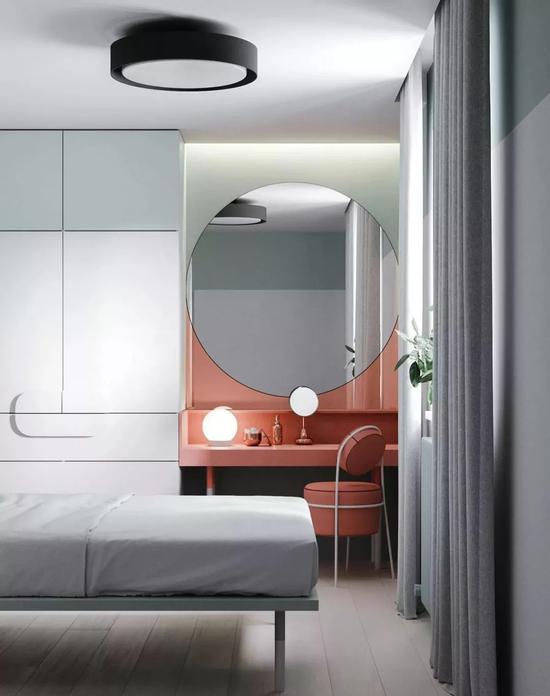 双层床的设计添加了许多童趣