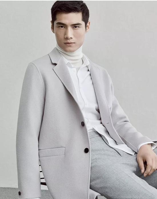 ME&CITY中长款韩版双面羊毛呢大衣 ¥ 699.00