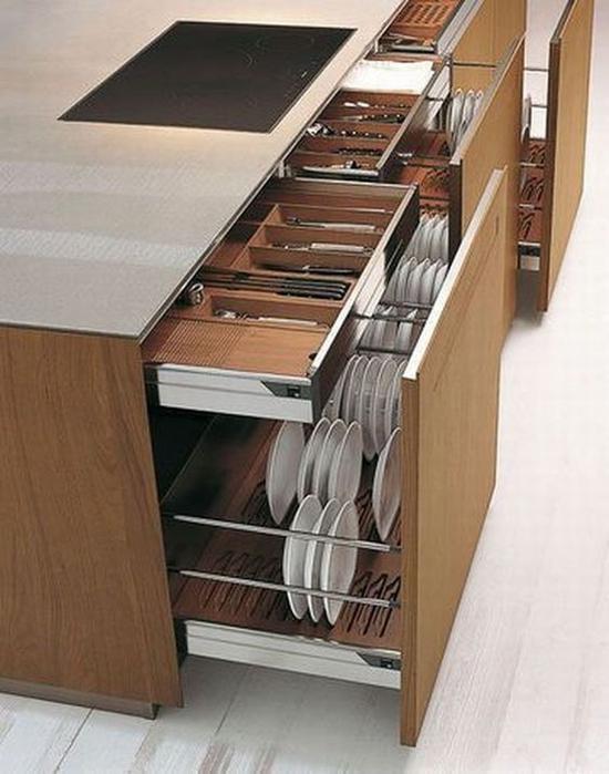 地柜一定要有抽屉的设计 图片源自trendyhomy. com