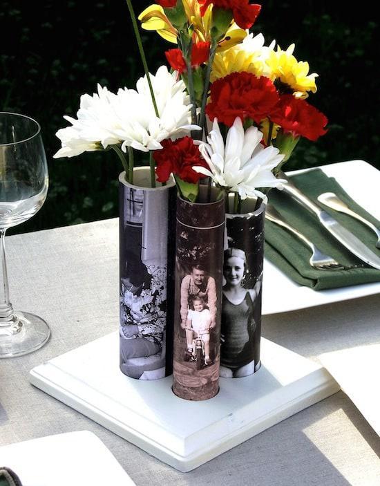 照片花瓶DIY 图片来源自modpodgerocksblog.com