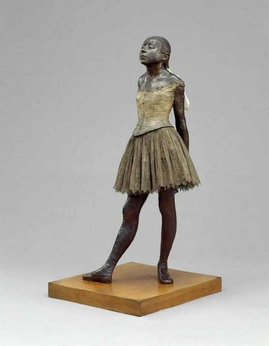 《十四岁的小舞者》,约1878-1881年,埃德加·德加。National Gallery of Art