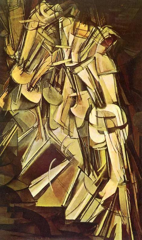 《下楼梯的裸女》(1912)89×146cm,布面油画 现藏于费城艺术博物馆