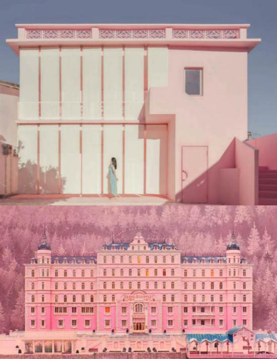 ▲这栋粉色的房子让人想到了电影《布达佩斯大饭店》