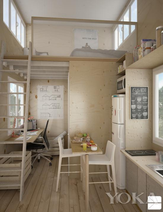 错层设计可以拥有最大空间利用率 图片来自home-designing.com