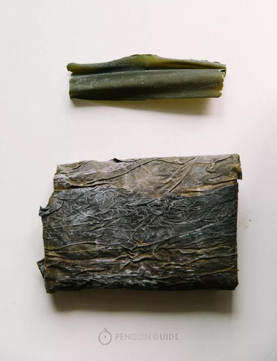 上:真昆布  下:福建海带