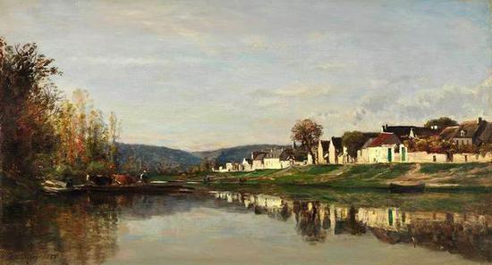 查尔斯·弗朗索瓦·道拜尼 《格劳顿村庄》 1857
