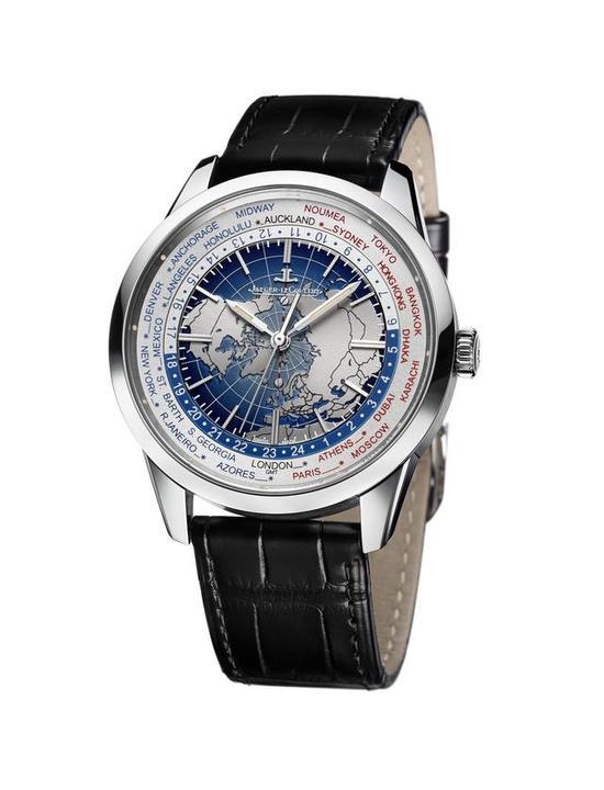 积家Geophysic® Universal Time地球物理天文台系列世界时间腕表 精钢款
