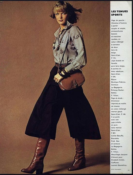 1974年《Vogue》巴黎版杂志内页 图片来源:Vogue
