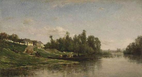 查尔斯·弗朗索瓦·道拜尼 《在水一方》 1859