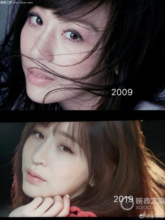 10年对比