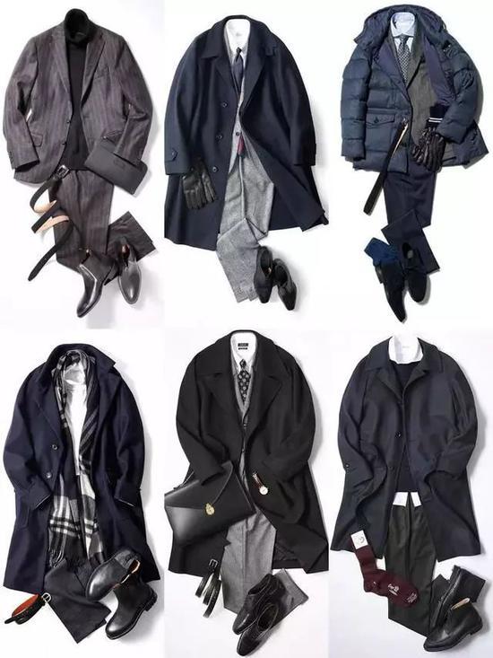 1。西装+高领毛衣