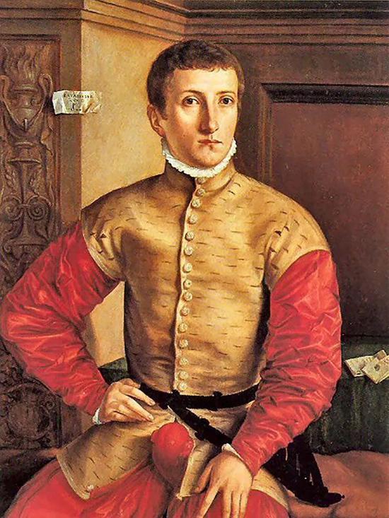 ▲1544 年,德国画家 Georg Pencz 创作的青年男子画像