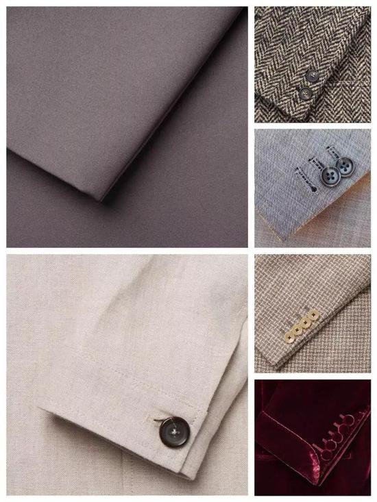不同数目袖扣的西服