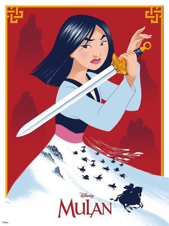迪士尼动画《花木兰》发布海报