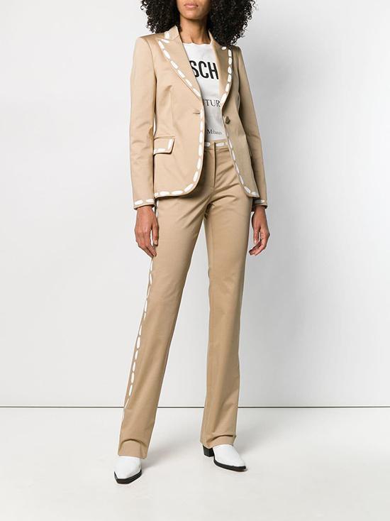 MOSCHINO印花缝线西装/长裤