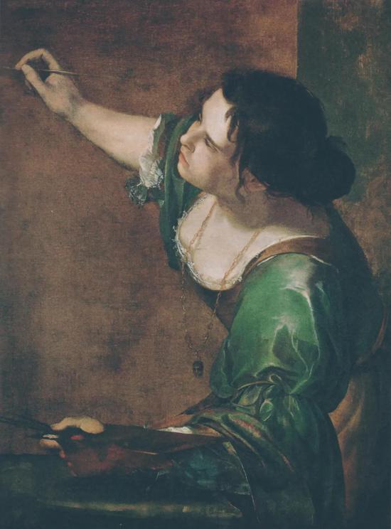 阿特米西亚·真蒂莱斯特 扮成绘画女神的自画像 油画 约1638年