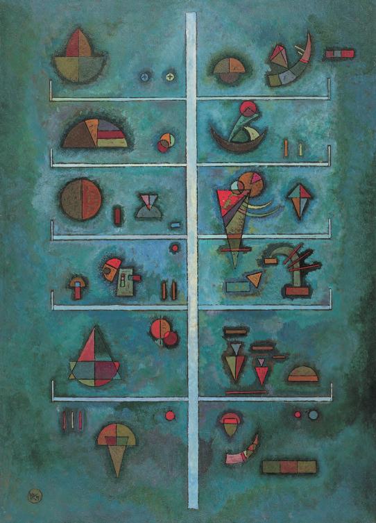 《層》,1929年,油畫,56.6厘米×40.6厘米,紐約:古根海姆博物館