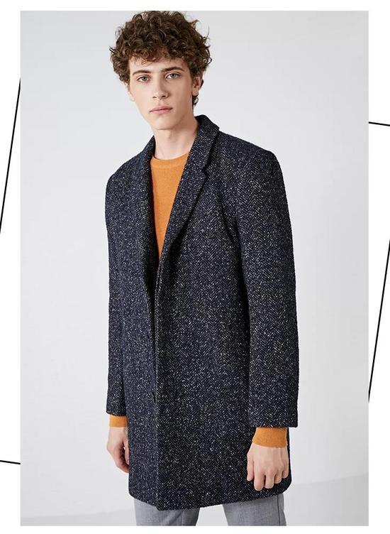 SELECTED思莱德含羊毛中长毛呢大衣 ¥ 1049.00