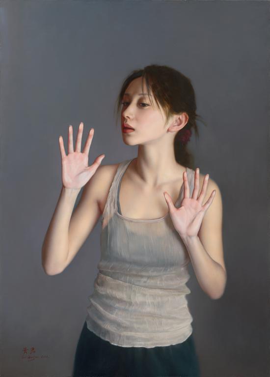 《一切是否完好如初》布面油画105x75cm 2011年