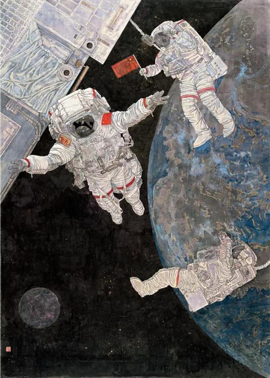 毛珠明作品《中国梦——飞天》