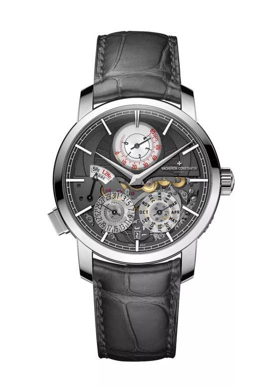 江诗丹顿Traditionnelle传袭系列双重芯率万年历腕表