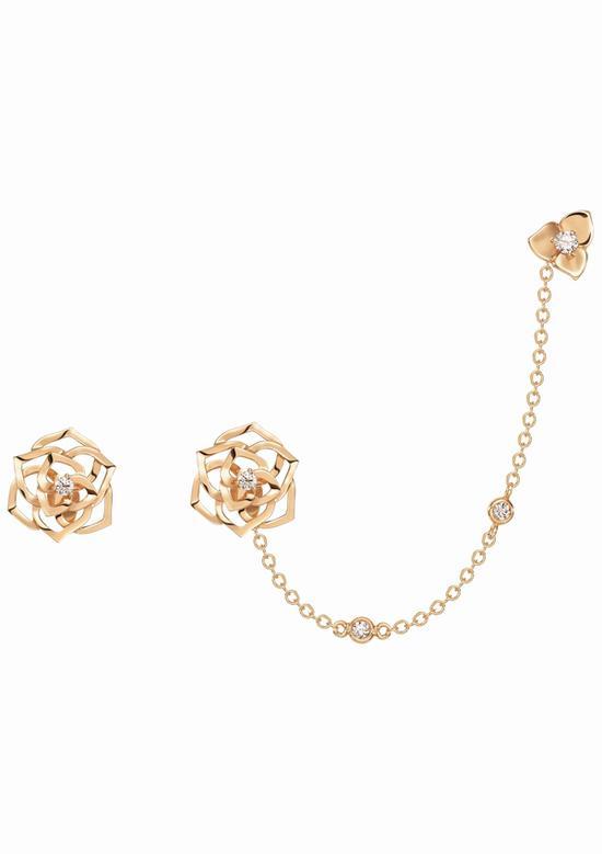 Piaget Rose 耳环 图片源自品牌