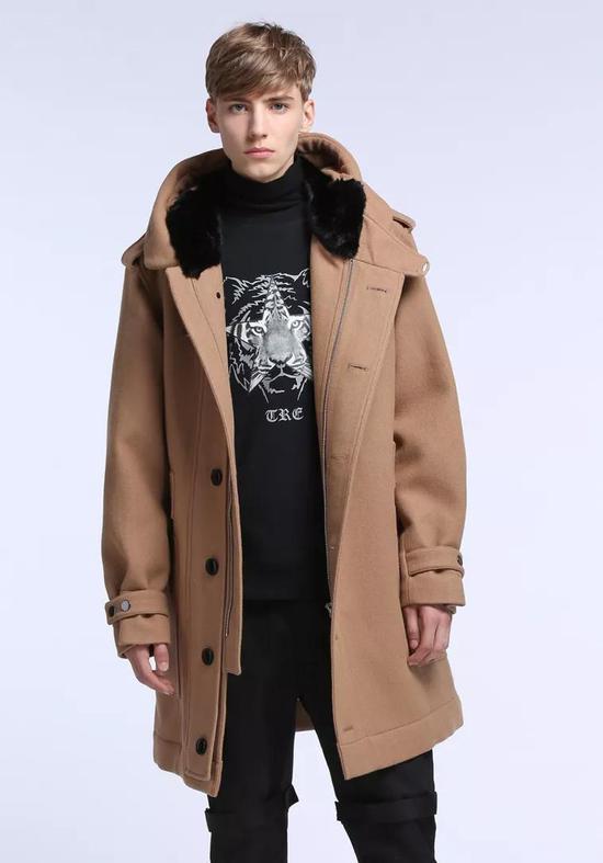 TRENDIANO连帽含羊毛呢大衣 ¥ 538.00