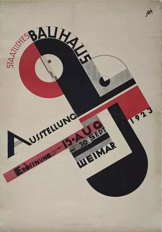 ▲1923年包豪斯展览的海报 ©Joost Schmidt