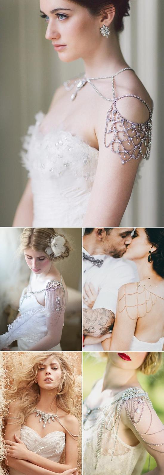 15款肩饰让你成为绝美新娘