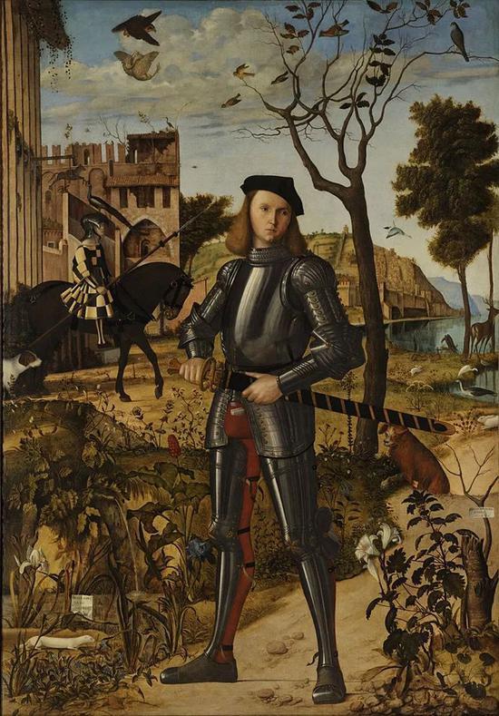 ▲1510 年,意大利画家 Vittore Carpaccio 创作的年轻骑士画像