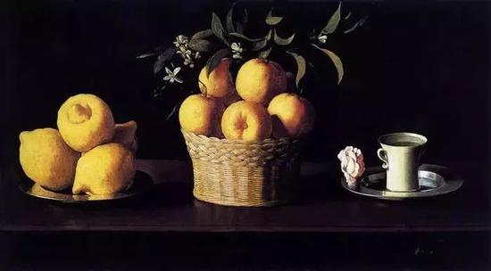 Francisco de Zurbarán 《Still Life with Lemons, Oranges and a Rose》